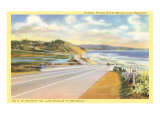 Highway 101 in Southern California  Torrey Pines