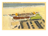 Aerial View of Surf Club  Virginia Beach  Virginia