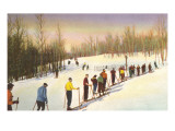 Line of Cross Country Skiers
