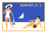 Newport  Rhode Island  Couple on Beach