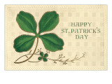 Four-Leaf Clover with Gold Lining