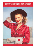 Happy Valentine&#39;s Day  Blonde Cowgirl