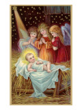 Young Girl Angels Admiring Christ Child