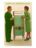 Happy St Patrick&#39;s Day  Green Beer Vending Machine