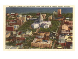 Aerial View of State Capitol  Madison  Wisconsin