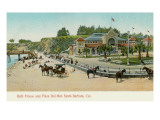 Bath House and Plaza del Mar  Santa Barbara  California