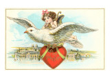 To My Valentine  Cupid Riding Dove