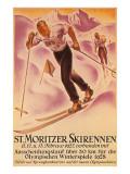 St Moritz Ski Run  1928