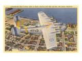 PB2Y-2 Navy Plane over San Diego  California