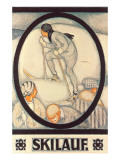 German Skiing Poster