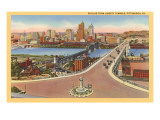 Skyline  Bridges  Pittsburgh  Pennsylvania