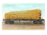 Giant Corn Cob on Flatbed  Washington