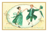 St Patricks Day  Dancing Couple