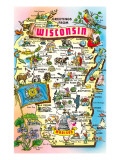 Map of Wisconsin  Attractions