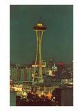 Night  Space Needle  Seattle  Washington