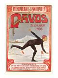 Swiss Speed Skating Poster  Davos