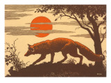 Woodcut of Fox