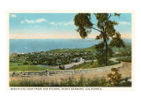 View over Santa Barbara  California