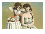 Victorian Mother and Child as Cupid