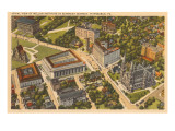 Aerial View of Mellon Institute  Pittsburgh  Pennsylvania