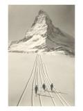 Skiers Leaving Matterhorn