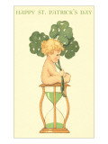 Happy St Patrick&#39;s Day  Baby on Hourglass