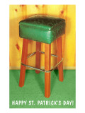 Happy St Patrick's Day  Green Bar Stool