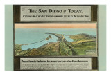Early Map of San Diego  California