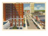 Panoramic View of Main Street  Greenville  South Carolina