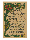 Shakespeare Quote on Grief  Joy