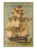 French Square-Rigged Sailing Vessel