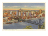 Riverfront and Skyline  Pittsburgh  Pennsylvania
