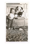 Toddler with Stuffed Panda