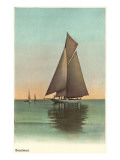 Gaff-Rigged Sloop  Becalmed
