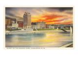 Sunset on Kanawha River  Charleston  West Virginia