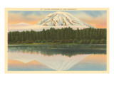 Mt Rainier  Lake Spanaway  Washington