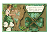 St Patricks Day Poem  Girl Playing Harp