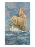 Brigantine Sailing Ship