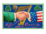 St Patricks Day  Handshake with Uncle Sam