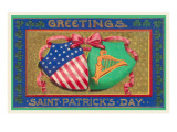 Greetings  St Patrick's Day  American Shield