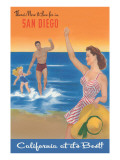 Poster with Happy Family  San Diego  California