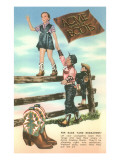 Advertisement for Children's Cowboy Boots