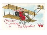 Come Fly with me  Couple in Vintage Biplane