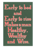 Early to Bed Slogan
