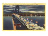Oakland Bay Bridge at Night  San Francisco  California