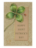 Happy St Patrick's Day  Jeweled Shamrock