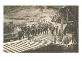 Railroad Crew Laying Rails