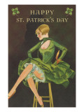 Happy St Patrick&#39;s Day  Woman Showing Legs