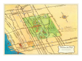 Map of Balboa Park and San Diego  California