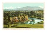 Winooski Valley and Mt Mansfield  Burlington  Vermont